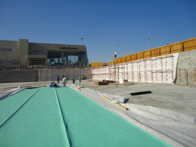 Basement Waterproofing for Turkish Hospital, Doha, Qatar